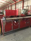Fabricated Steel Workbench & Cupboards c/w Record No 5 Vice