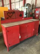 Fabricated Steel Workbench & Cupboards