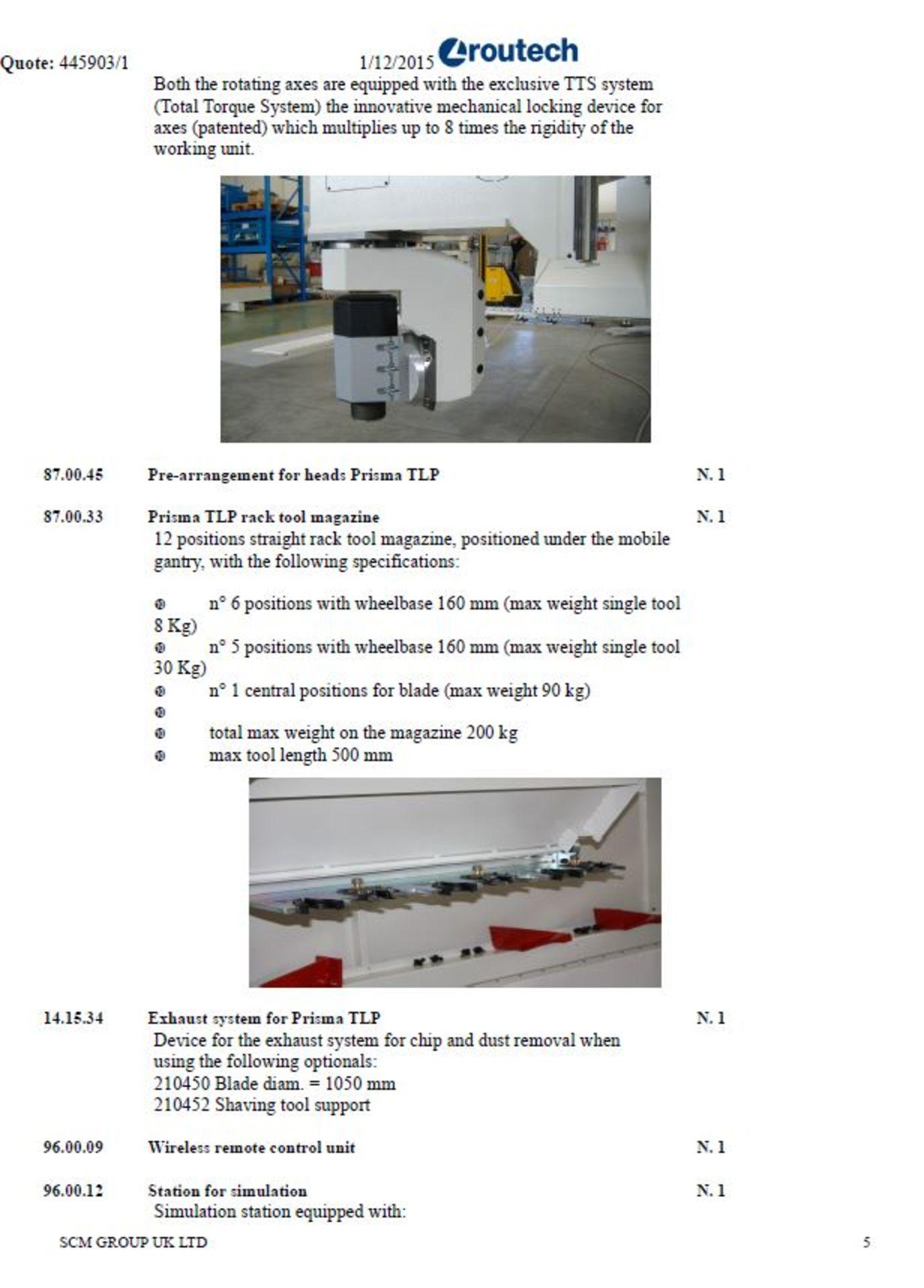 SCM AREA/00224 Routech CNC router - Image 29 of 29