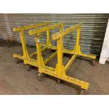(3) Heavy duty mobile trestles
