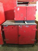 Steel Workbench & Cupboard