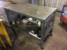 Mobile steel trolley