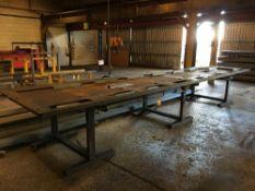 Heavy Duty Steel Fabrication Table