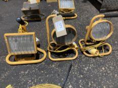 (3) 110V Halogen Lamps