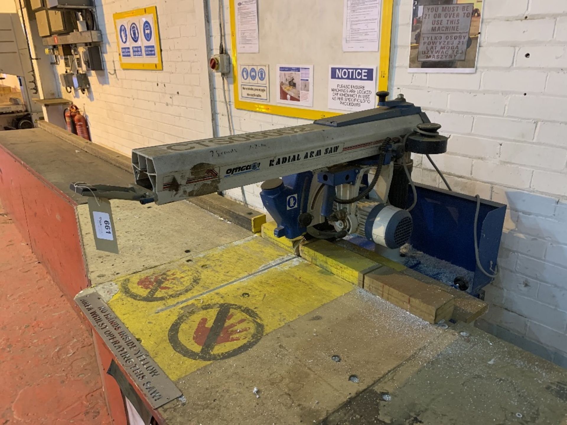 Omgear RN600 Vertical Radial Arm Saw - Image 3 of 4