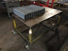 Mobile steel framed bench
