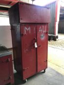 Steel Framed Mobile Cupboard with Box Over