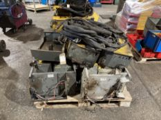 Quantity of F40 Wire Feeder Units, Lids & Welding Cables
