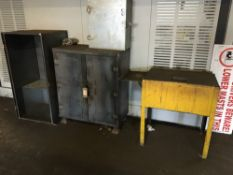 (4) Steel storage cabinets of various dimensions
