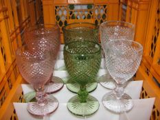 Quantity of various style glass goblets