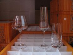 Quantity of various size and style glassware