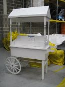Painted timber sweet trolley cart