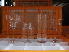 Quantity of various style tableware and glassware