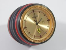 Ferrari Formula 1980's Cartier Desk Clock Swiss Made