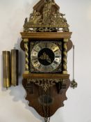 Zaandam Dutch wall clock