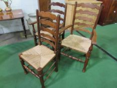 Set of 6 chairs and 2 carvers, plus 3 others.