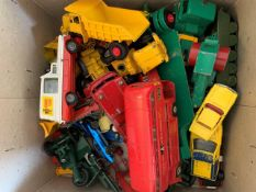 A collection of vintage diecast toy cars