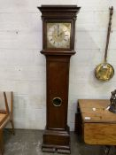 18th century mahogany and stained pine long case clock by Philip Constantin of London.