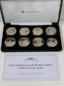 1914 - 1918 WW1 Centenary, Jubilee Mint, Crown coin collection in box with certificate.