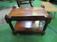 Mahogany 2 tier table/trolley.