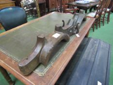 Vintage decorative double Ox yoke of wood and iron construction.