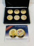 Battle of Britain 75th Anniversary, Bradford Exchange, Crown coin collection with certificates.