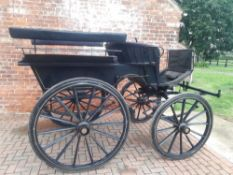 WAGONETTE by Peters & Sons of London, to suit a full-size pair of horses. Painted dark blue and blac