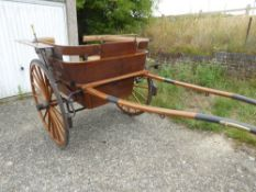 GOVERNESS CART built by McNaught & Co., of London & Worcester, to suit 13 to 14hh. On 24ins wheels
