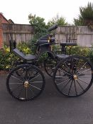 SPIDER PHAETON built by Hartland Carriages to suit 14.2 to 15hh cobs single or pair. Painted black