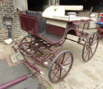 FOUR-WHEEL PHAETON to suit 13. 2 to 15.2hh single or pair. Lot 4 is located near Horsham, Surrey