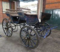 CONTINENTAL PHAETON built by W. Luhr of Oldenburg to suit a full size single or pair. Painted dark
