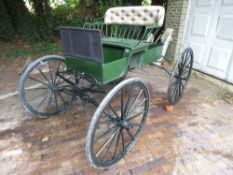 4-WHEEL BUGGY from Columbus & Cortland Carriages Ltd of London c. 1900, to suit 14 to 16hh single or