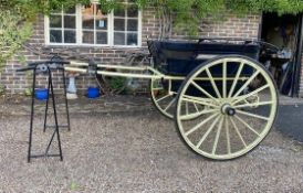 GOVERNESS CART built by J.A. Lawton & Co., of Liverpool & London, to suit 13.2 to 14hh. Lot 5 is l