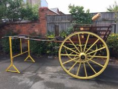 NORFOLK CART built by Clonmel Jones to suit 15 to 15.2hh. Finished in natural varnished wooden body