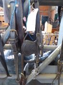 Set of leather exercise harness for 12.2hh pony. No reins. Foreign made