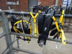 Set of black/yellow quick hitch cob size trotting harness
