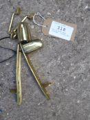 Set of brass shaft fittings - carries VAT