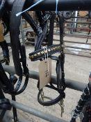 Set of black/brass English Hackney pony harness with Tilbury tugs