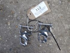 Pair of stainless steel quick release shackles - carries VAT