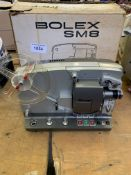 Bolex MS8 sound projector in original box and packaging.