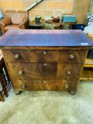 Victorian mahogany chest of 3 drawers