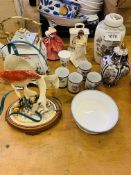 Four Wedgwood items and other china items.