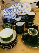 Alpilco French porcelain tea/coffee set and quantity of Italian china.