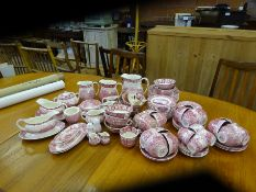 """Quantity of Palissy Pottery """"Thames River Scenes"""", approx. 87 pieces."""