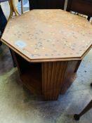 Oak octagonal table.