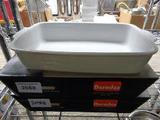 2 Berndes rectangular roaster. This item carries VAT.