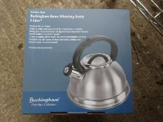 Whistling kettle. This item carries VAT.