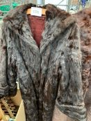 Two fur short coats, fur full length coat and two stoles.