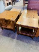 Ducal pine square table and coffee table.