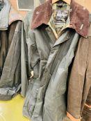 Barbour Border wax jacket size 46.